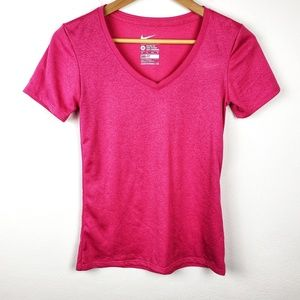 Nike | Hot Pink Dri Fit Basic Tee Extra Small